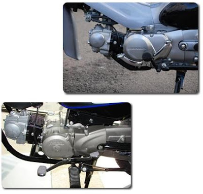 Engines of the Honda CUB and Hero Honda Splendor