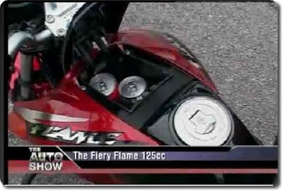 TVS Flame, Lockable Space on the Tank