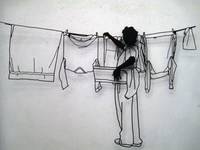 Arte en alambre Frank-Plant-Laundry