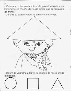 CHINEZ 795116 ATIVIDADES PEDAGÓGICAS COM FORMAS GEOMÉTRICAS para crianças