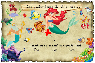 Pequena Sereia little Mermaid