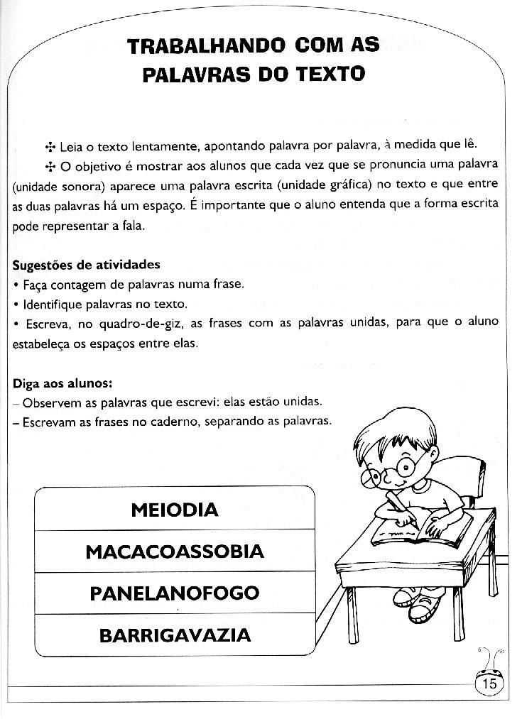 Atividades Para Alfabetiza    O E Letramento  Atividades Pedag  Gicas