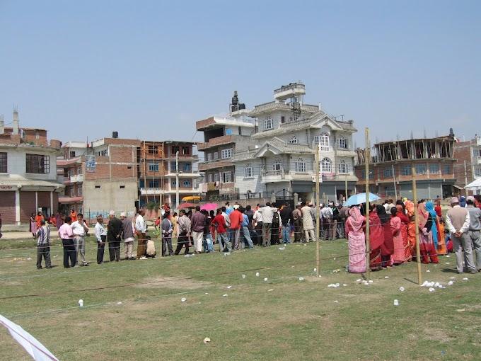ネパールの選挙風景(注)1年前です