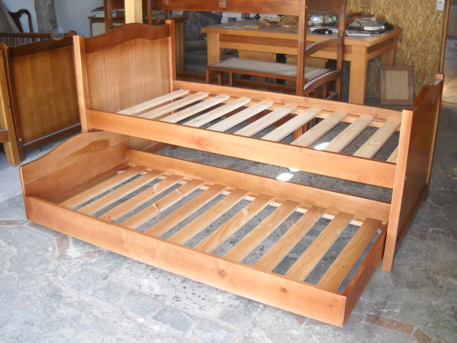 Muebles kotue cama alta con nido - Cama nido alta ...