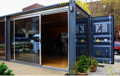 shipping container shelter