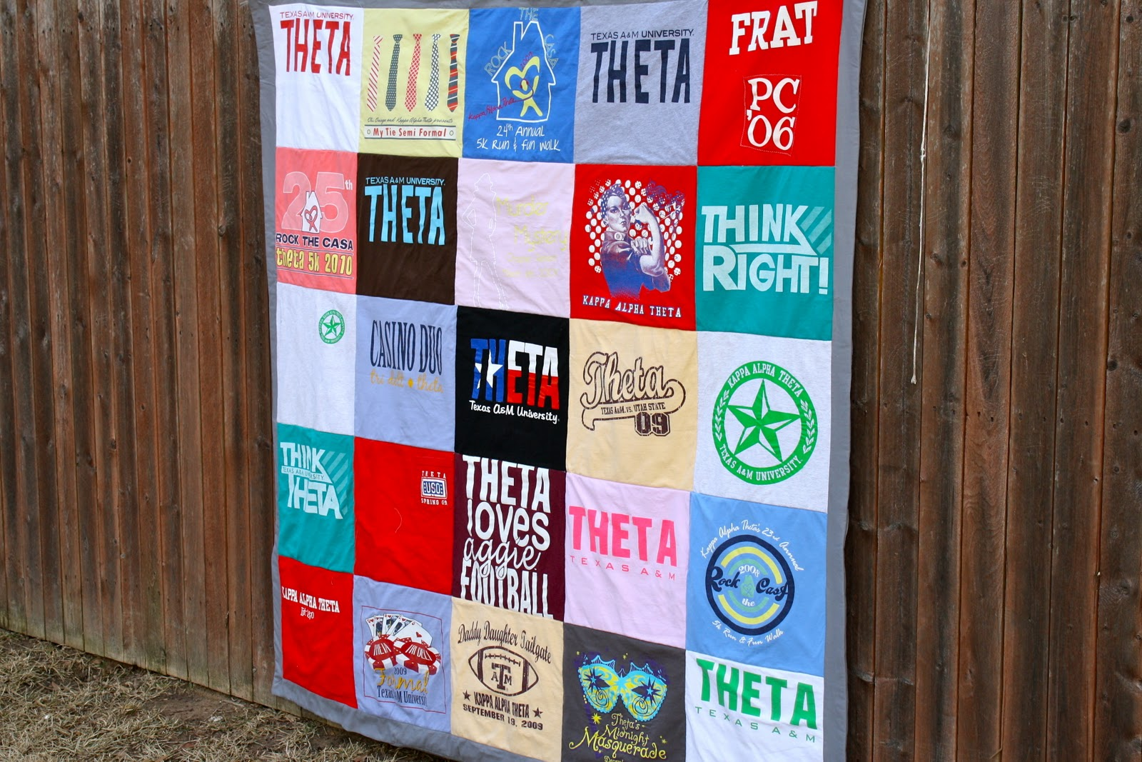 diy  t-shirt quilt part one  of two