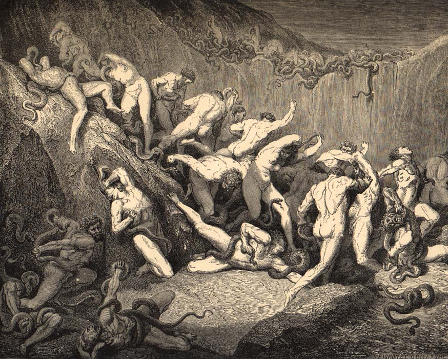 an analysis of the topic of the perfect punishment in dantes inferno