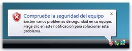 notificación de seguridad
