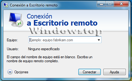 Windowstop conexi n a escritorio remoto for Conexion escritorio remoto windows 8