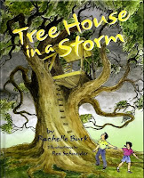 This is a book cover for Tree House In A Storm.