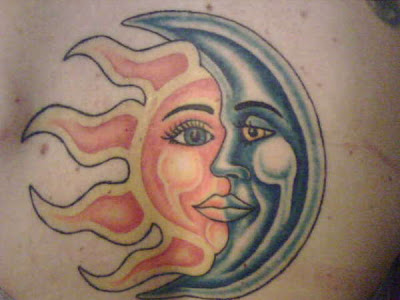 Moon Star Tattoos, Sun Moon Tattoos & Sun and Moon Art