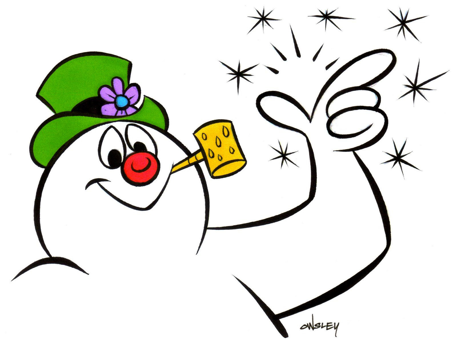 Patrick Owsley Cartoon Art and More!: FROSTY THE SNOWMAN ...