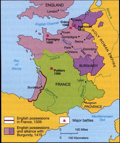 Map Of Britain And France. between Britain and France