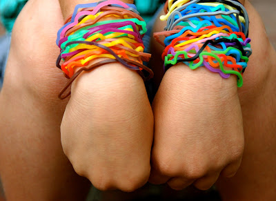colorful rubber bands