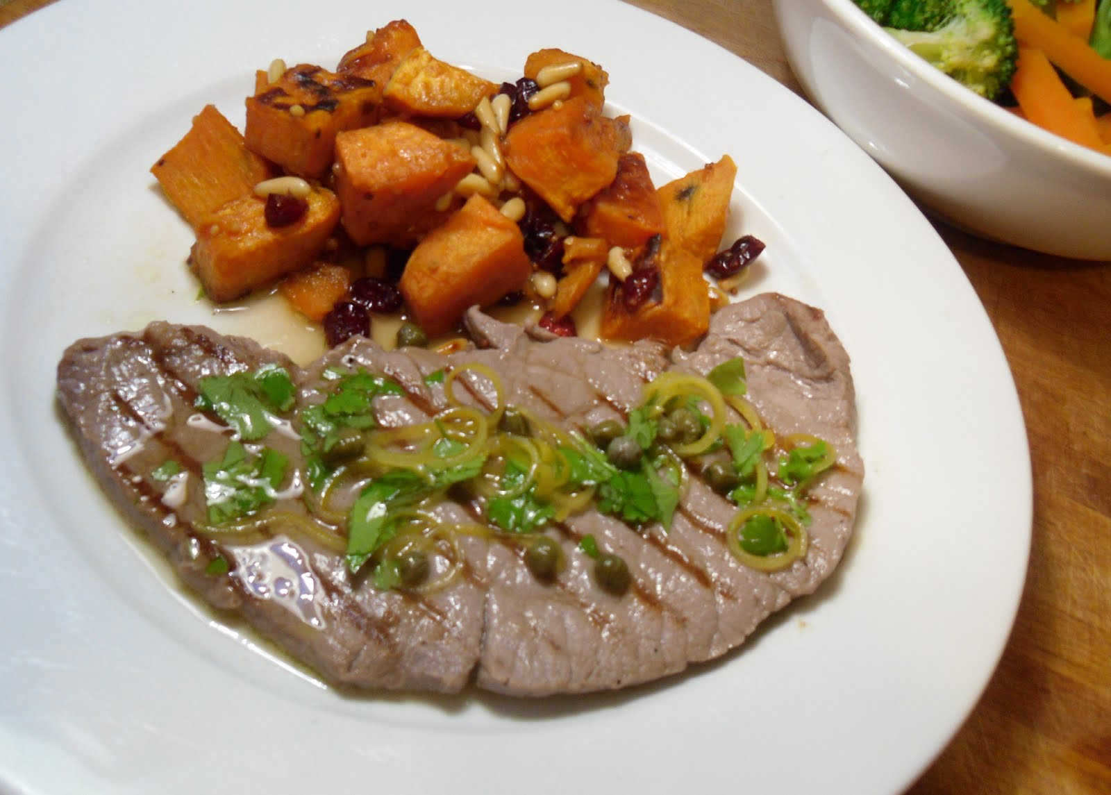 Veal Steaks with Lemon and Caper Gremolata and Sweet ...