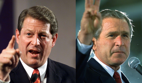 an analysis of the bush gore debate in 2000 Al gore and george w bush at the first presidential debate in 2000, moderatored by jim lehrer credit stephen crowley/the new york times.