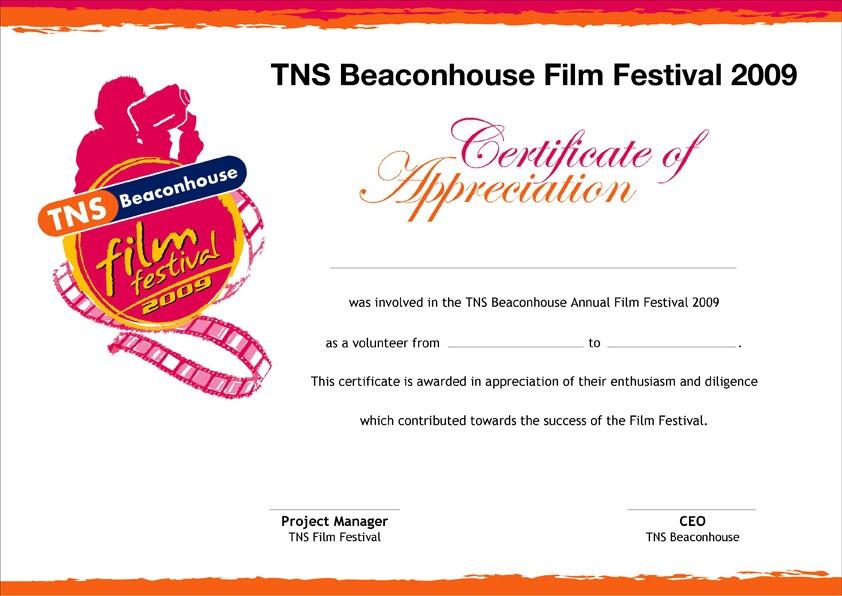 film festival brochure template - imaqsood film festival certificate of appreciation