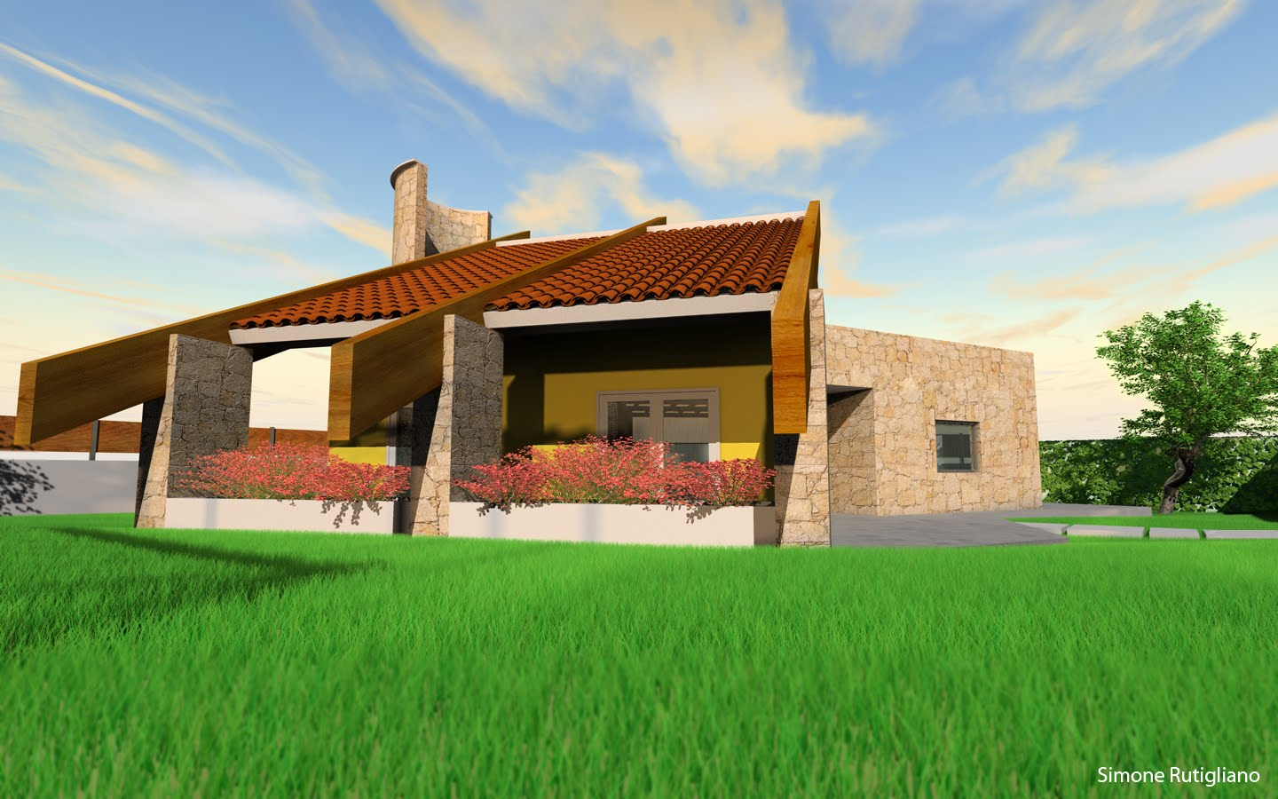 Blog computer grafica 3d tutorial gratis villa in for 3d esterno casa