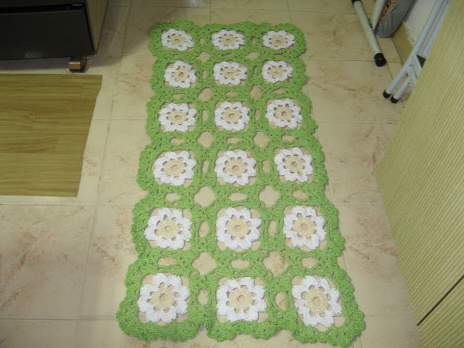 """Jogo de Cozinha feito em Crochê... (""""Passadeira"""")..."""