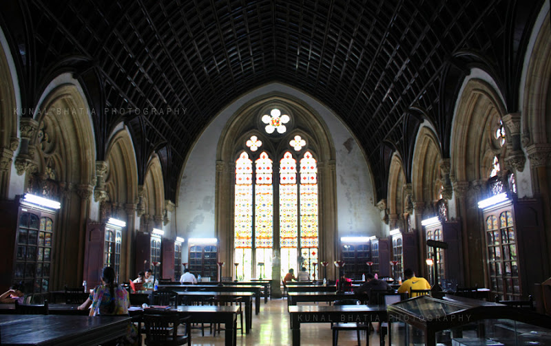 mumbai university library gothic architecture interior by kunal bhatia