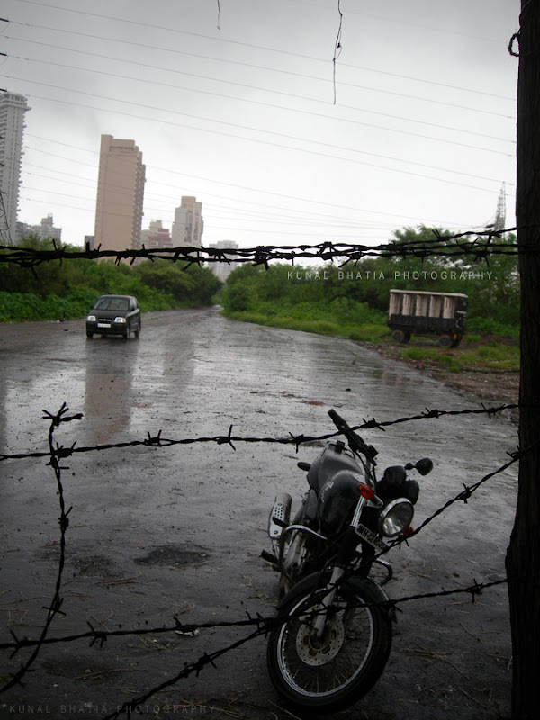 rainy day mood empty road in mumbai by kunal bhatia