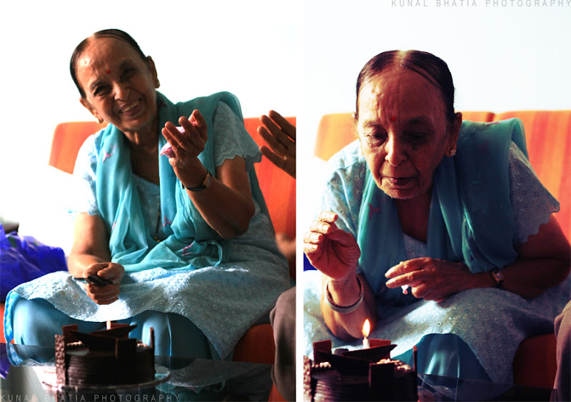 granny grandma grandmother's birthday celebrations cake cutting in mumbai by kunal bhatia photo blog