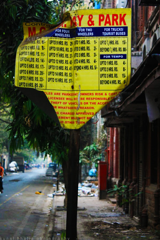 mscgm pay and park sign in mumbai by kunal bhatia photo blog