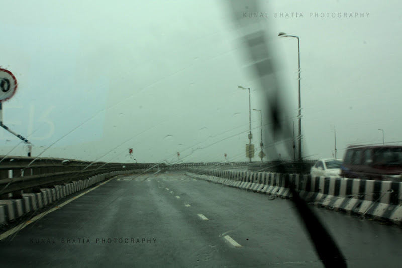 wind shield and wiper of car on bandra worli sea link on a rainy day in mumbai by kunal bhatia mumbai photo blog