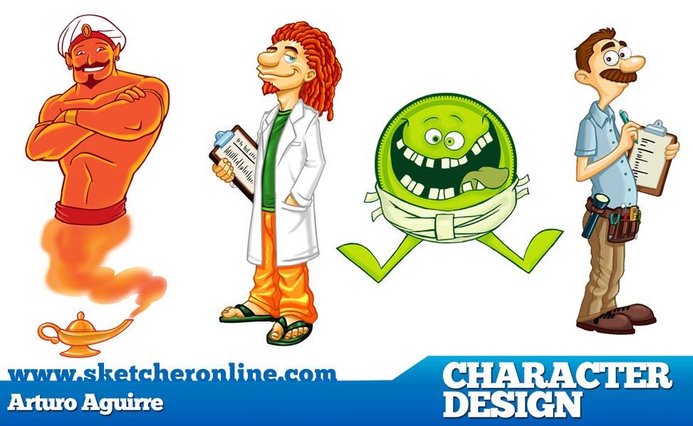 Character Design Web : Artina studio web character design