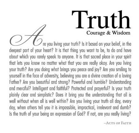 ways of knowing truth The virtue of faith guides the christian way of knowing and enables the church to  challenges to knowledge and truth in our postmodern culture prayer.