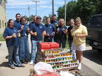 Open Door Mission Partner's with Pacific Life in a Canned food Drive