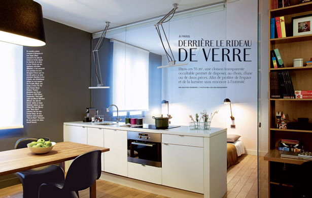 Making it my style behind the glass curtain - Amenager petit appartement 2 pieces ...