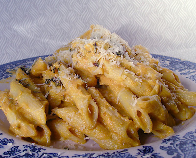 Le Petit Pierogi: Penne Pasta with Creamy Pumpkin Sauce
