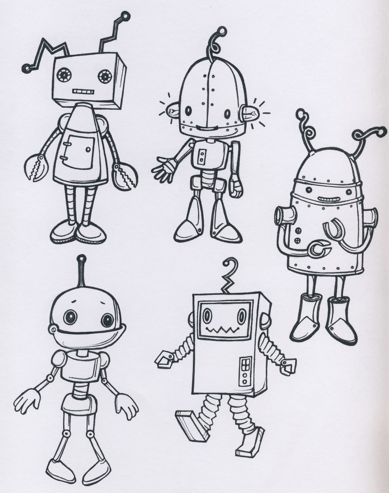 Line Drawing Robot : My tiny star robots hims and hersmytinystar