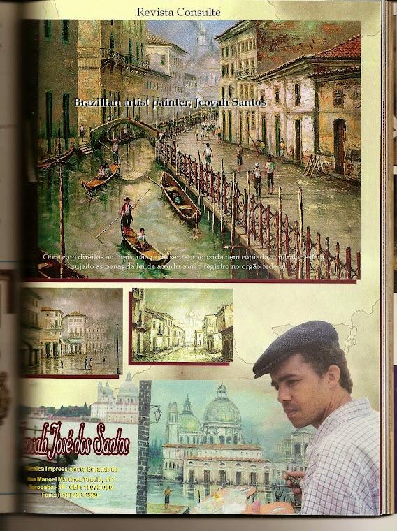 Obras de Jeovah Santos pintadas ao vivo em Veneza, Itália