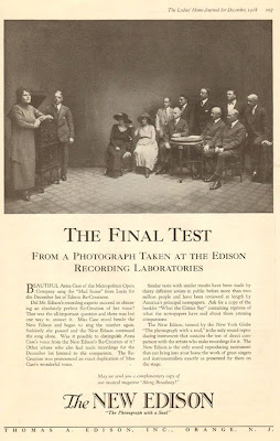 Full page Edsion ad from 1918 featuring Anna Case.