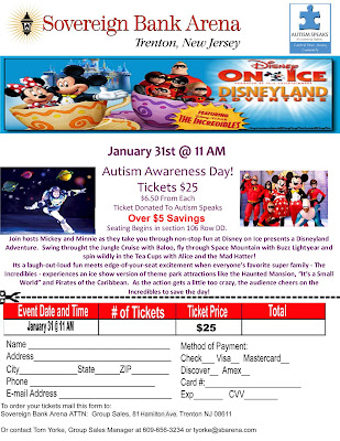 Disney On Ice Autism Awareness Day at Sovereign Bank Arena