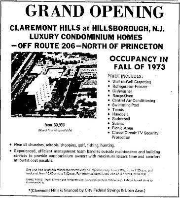 Claremont Hills Ad, 1973