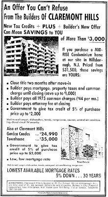 Claremont Hills ad, 1975