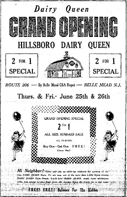 Hillsborough Dairy Queen Ad, June 1964