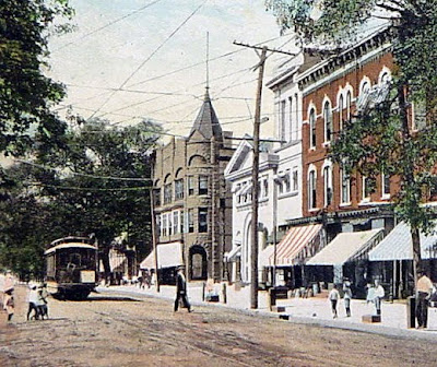 Main Street Somerville with Troilley Car, circa 1900