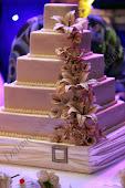 Qudratische Hochzeitstorte