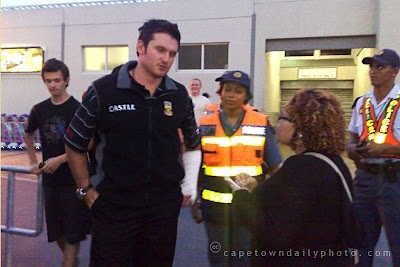 Graeme Smith arrives at Cape Town International Airport
