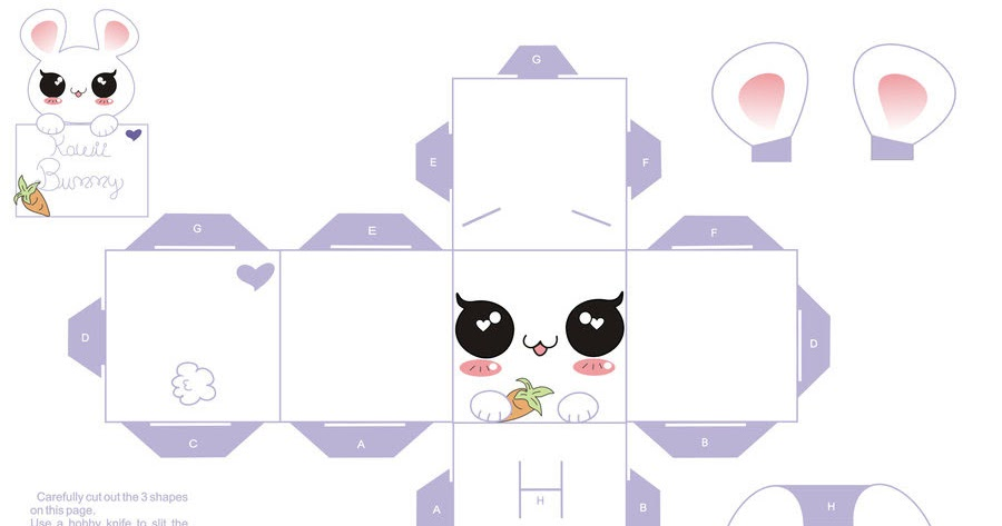Kawaii Bunny Papercraft Website Free Game