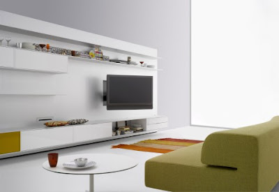 TV stand wall unit decorating ideas