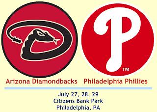 Diamondbacks at Phillies: July 27th through July 29th