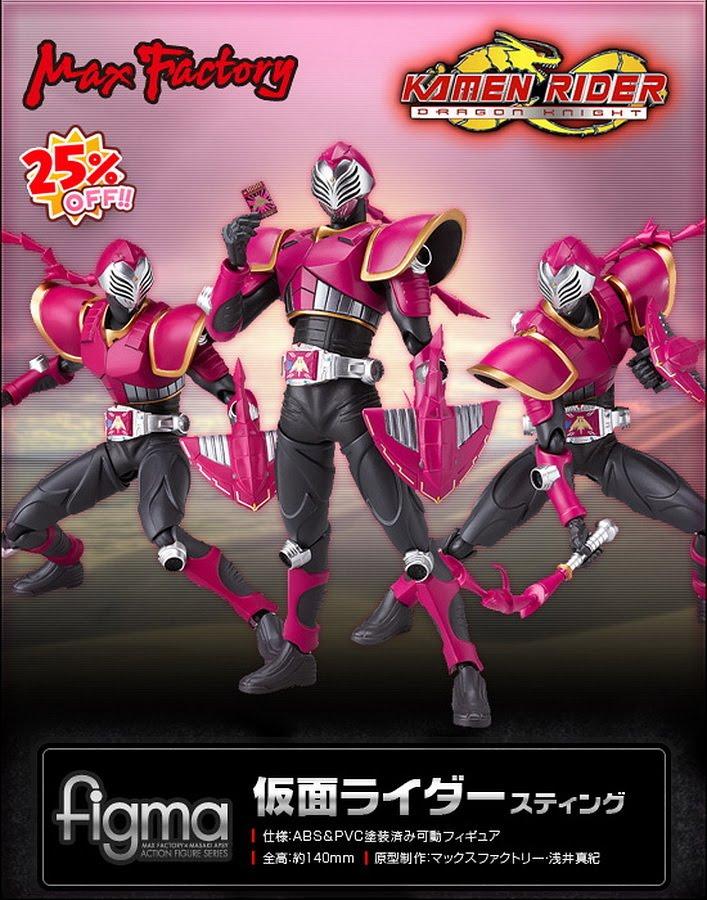 Figma Kamen Rider Sting  Dragon Knight series  Large Images HEREKamen Rider Dragon Knight Sting