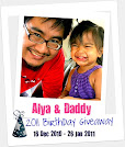 Alya And Daddy 2011 Birthday Giveaway
