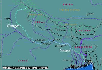 Ganges River: Location of Ganges