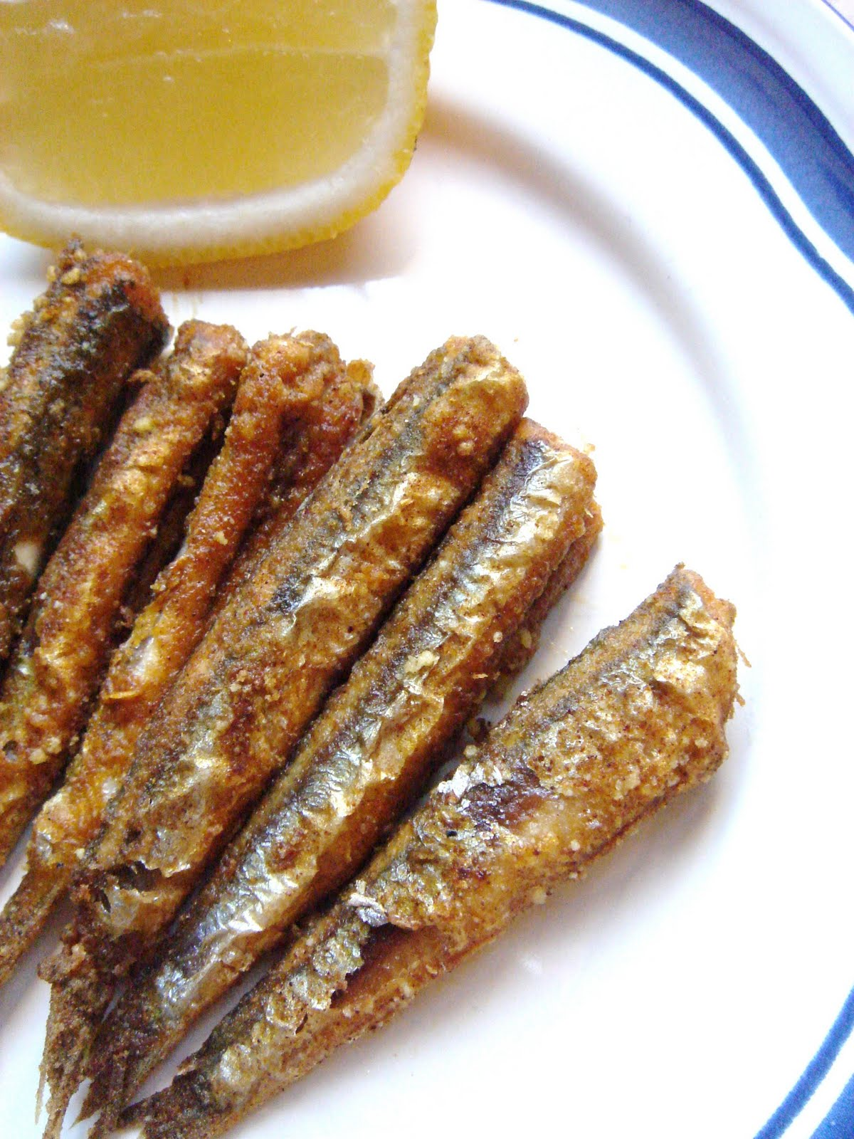 East meets West: Fried Fresh Anchovies (Alici)
